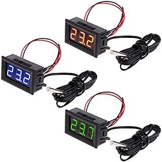 Voltmetro Termometro Digitale per Auto ABEDOE Timer Orologio Temperatura Pannello LED per Moto Veicolo