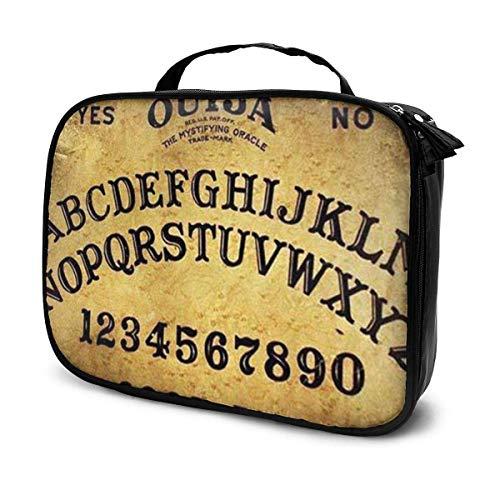 x x inch Gefährliches magisches Spiel Ouija-Brett Muster NiYoung Lazy Toiletry Bag Clutch Bag Gothic Gothic Frauen Mädchen Kunst Kosmetik Zug Fall Organizer große Kapazität Handgepäck Pouc