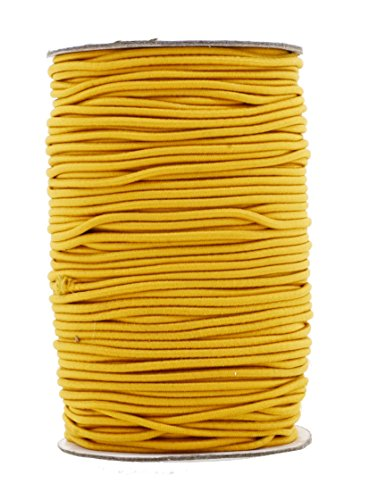 Mandala Crafts Elastic Cord Stretchy String for Bracelets, Necklaces, Jewelry Making, Beading, Masks (Gold, 2mm 76 Yards)
