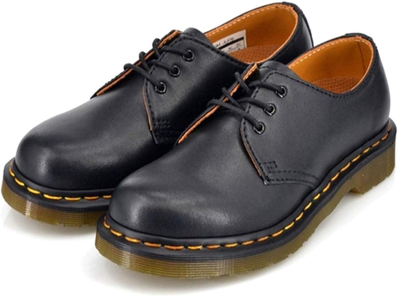 Damen Damen Retro Martin Stiefel Schnürschuhe Freizeitschuhe Stiefeletten Flache Schuhe 3 Loch Leder Niedrige Schuhe Unisex