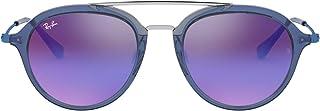 Ray-Ban - JUNIOR 0Rj9065S Gafas de sol, Transparente Blue, 48 Unisex-niños