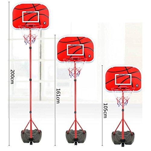 Mecotech Canasta Baloncesto Infantil 105-200cm Ajustable Portátil Canasta Baloncesto Niños Interior y Exterior con Inflador y Bola