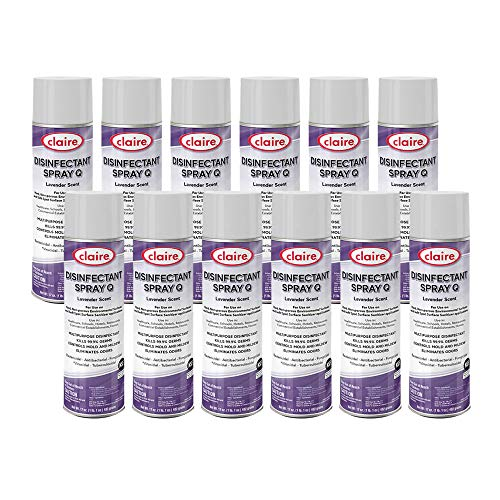 Claire CL1003-12pk Disinfectant Spray, Lavender (Pack of 12)