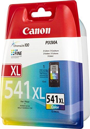 1x Original Canon Cartucho de tinta cl 541X L cl 541XL CL-541X L 5226B005Color para Pixma MG 4150