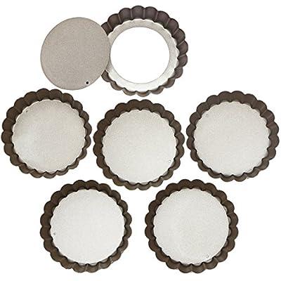Webake Quiche Pans Removable Bottom Tart Pans Set