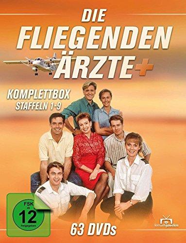 Die fliegenden Ärzte - Komplettbox, Staffeln 1-9 (63 Discs)
