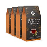 Marca Amazon – Happy Belly Select Bolsitas de té de hierbas con arbusto de miel y rooibos, 4x15pirámides