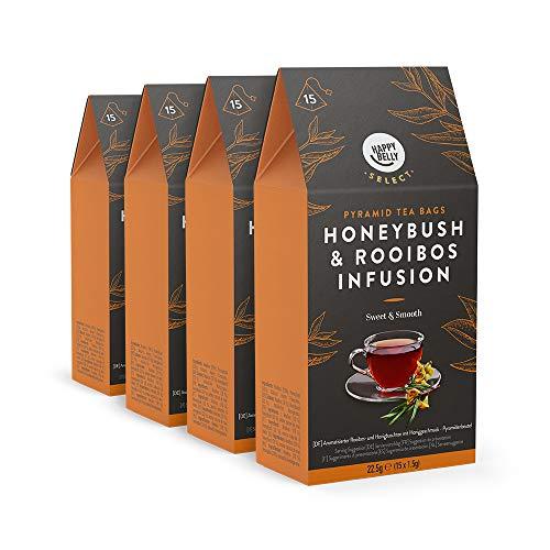 Marca Amazon – Happy Belly Select Bolsitas de té de hierbas con arbusto de miel y rooibos
