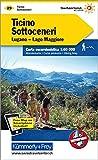 Ticino Sottoceneri, Lugano-Lago Maggiore: Wanderkarte Nr. 29, Massstab 1:60 000, waterproof, Free Map on Smartphone included (Kümmerly+Frey Wanderkarten)