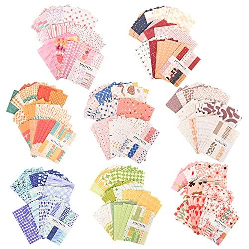 YAIKOAI 400 hojas de papel vintage para scrapbooking, accesorios de scrapbook vintage exquisitos decorativos con diferentes temas y patrones, adecuado para álbumes de recortes, viajes