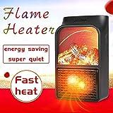 Heater Chauffage électrique|Mini-chauffage pour prise murale avec prise électrique| Chauffage de 500watts| Fonction d'horloge (1−12 heures) | 10 m²/25 m³ max. (Blanc)