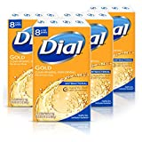 Dial Antibacterial Bar Soap, Gold, (Each 8 Count of 4 oz Bars) 32 oz, Pack of 4