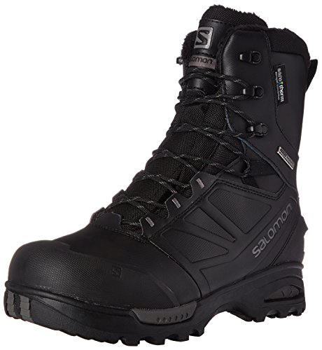 Salomon Men's TOUNDRA PRO CSWP Snow Boot Black/Autobahn, 7 M US