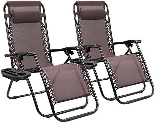 Homall Zero Gravity Chair Patio Folding Lawn Lounge Chairs Outdoor Lounge Gravity Chair Camp product image