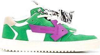 Luxury Fashion | Off-white Men OMIA151E20LEA0015537 Green Leather Sneakers | Autumn-winter 20