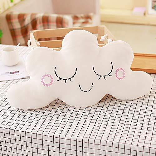 Cojín bebé almohada para dormir regalos para niños Decoración para el hogar para la luna de peluche de la serie de cielo lindo, nubes de estrella Bowknot de peluche para bebés juguetes suaves (Bowknot