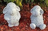 HQ-Beton Manufaktur Gartenfiguren niedliche Schafe im Set groß frostfest Handmade Steinfiguren zu Ostern Deko für außen Garten Balkon und Terassen Gartendeko Figuren Tiere