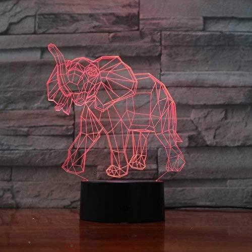 YOUPING Lámpara 3D 7 Colorido Degradado Elefante Modelado de Luz de Noche Interruptor Táctil Niños Estudio de Iluminación Animal Lámpara de Escritorio Luminaria Decoración