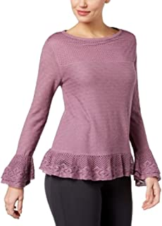Style & Co. Layered Ruffle-Trim Knit Sweater