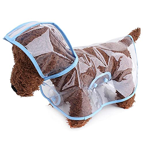 Tasogo Pet Products - Impermeable para perros pequeños y medianos (plástico transparente)