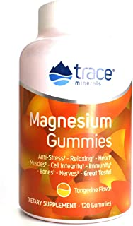 Trace Minerals, Supplement Magnesium Gummies Tangerine, 120 Count