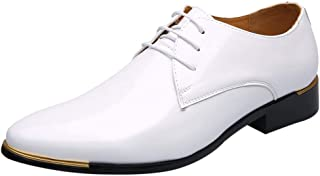 1d4b36a376 Hommes Chaussures Cuir Confortable Respirent Vernis Noir 1 cm Ballroom  Respirent Pointure Bloc Talon Loisir Fashion