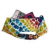 Bandi Kids Pocket Belt for Medical, Sports, Play, Comfortable Adjustable Fit (Rainbow Hearts)