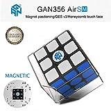 ROXENDA Gan 356 Air SM Magnetisch Speed Cube Ganspuzzle Professionel 3x3x3 Zauberwürfel Schwarz
