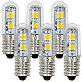 MENGS® Pack de 6 Bombillas LED E14 1W AC 220-240V Blanco cálido 3000K 7x5050 SMD con el escudo de cristal