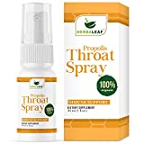 HerbaLeaf Propolis Throat Spray - Bee Pure Propolis Extract for Immune Support & Sore Throat Relief. 1 Oz