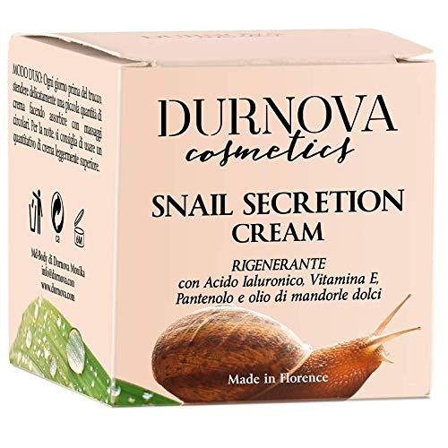 Crème naturelle à la bave d'esc 50 ml Durnova Cosmetics contient de l'extrait de bave d'esc pur à 100 %, des composants supplémentaires (Protelan NMF,