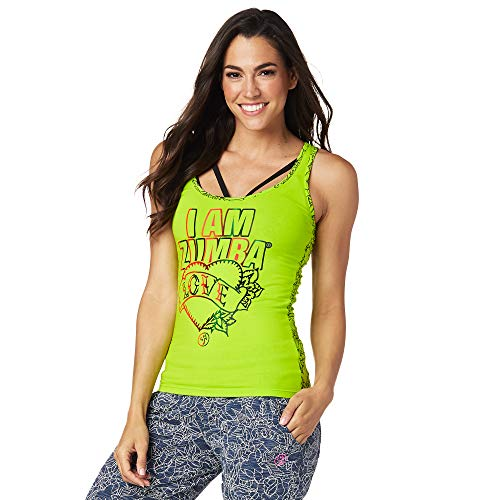 Zumba Fitness Suave Entrenamient Racerback Tops Mujer Activewear Ropa Hippie Top Deportivo De Moda, Zumba Green 3, L