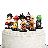 Dragon Ball Z 4' Figures - 6 Pack Super Stars Goku Dragon Toys Action Figures Cake Toppers Set - Dragon Ball Toy Collection Gift