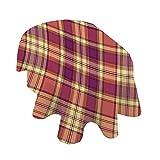 Angel Bags - Mantel ovalado a cuadros, diseño retro con estampado de rayas celtas escocesas vintage, 150 x 104 pulgadas, para comedor y fiesta, color amarillo claro