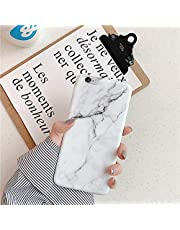 Funda Compatible con iPhone 6/6S Plus,Carcasa Mármol Ultra Delgado Suave Flexible Silicona TPU Funda IMD Mate Brillante Marble Cover Case Ligero Diseño Anti-caída Proteccion Bumper,Q-Mármol Esmerilado