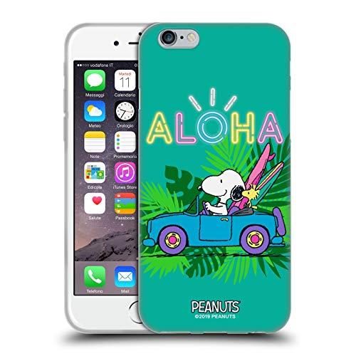 Head Case Designs Ufficiale Peanuts Surf Tropicale Snoopy Aloha Disco Cover in Morbido Gel Compatibile con Apple iPhone 6 / iPhone 6s