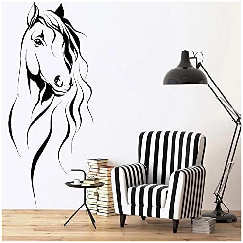KBIASD Pegatinas de pared de caballo calcomanía de vinilo de animales para mascotas decoración del hogar extraíble hermoso mural 42x99cm