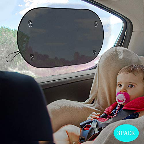 MBLAI Car Sun Shade,Car Window Shade (3 Pack) for Car Side and Rear Windows,...