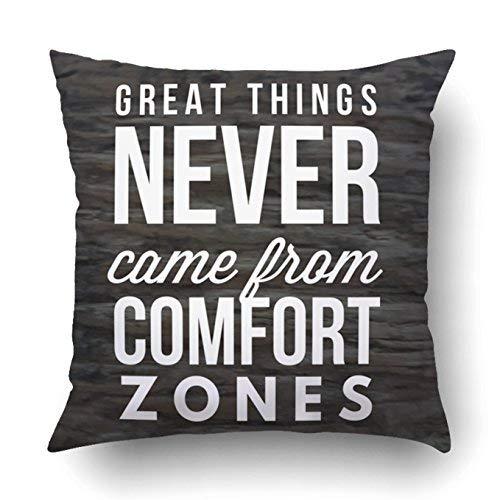 GFGKKGJFD313 Funda de almohada para decoración del hogar, con cita motivacional, vida sabiduría, positiva, estimulante, exitoso, 40 x 40 cm