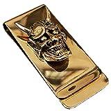 Best Money Clips - Yuri Brass Skull Hannya Pendant Slim Cash Money Review