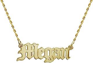 MyNameNecklace Personalized Old English Font Name Necklace -Custom Pendant Nameplate Jewelry