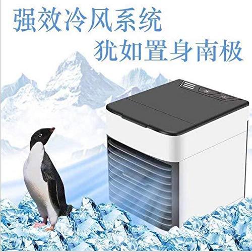 Weiß Mini USB Luftkühler Luftbefeuchter Luftreiniger 7 Color Light Desktop Luftkühlventilator Luftkühlerlüfter für Büro LED-Lichter Luftkühlventilator für Hom