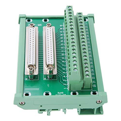 Doppelte Buchsenklemmenblockplatine Langlebiges DIN-Schienenmontageschnittstellenmodul Hohe Zuverlässigkeit Serielle DB37-M6-Adapter für den elektrischen Anschluss