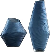 Flower Bottle Glass Vases for Wedding Table Handmade Glass Vase Hydroponic Living Room Study Decoration Set (1 Set 2 Pieces)