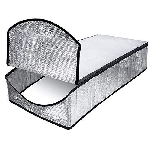 POHOVE - Aislamiento para escaleras de ático (63,5 x 137,2 x 28,9 cm, extra grueso, incombustible, escalera de aire, aislamiento para escaleras y escaleras para puerta, con cremallera