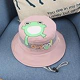 wtnhz Artículos de Moda Primavera, Verano y otoño Sombrero de Olla con Estampado de Rana Lindo Coreano Sombrero de bebé de Sombra al Aire Libre de modaRegalo de Vacaciones