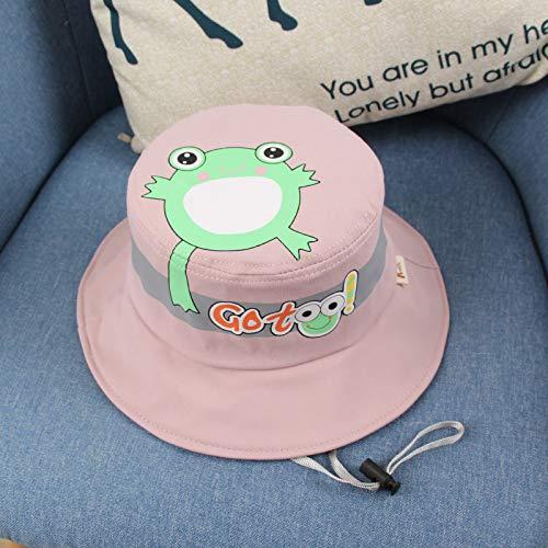 wtnhz Modische Kleidungsstücke Frühlings-, Sommer- und Herbstkoreanischer niedlicher Froschdruck-Topfhutmode im Freien beschatten Babyhut Geschenk