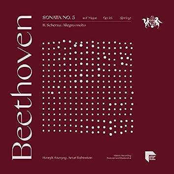 "Beethoven: Sonata No. 5 in F Major, Op. 24 ""Spring"": III. Scherzo. Allegro molto"