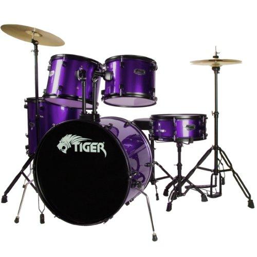 Tiger DKT28-PU 5-teiliges Schlagzeug Set - Violett