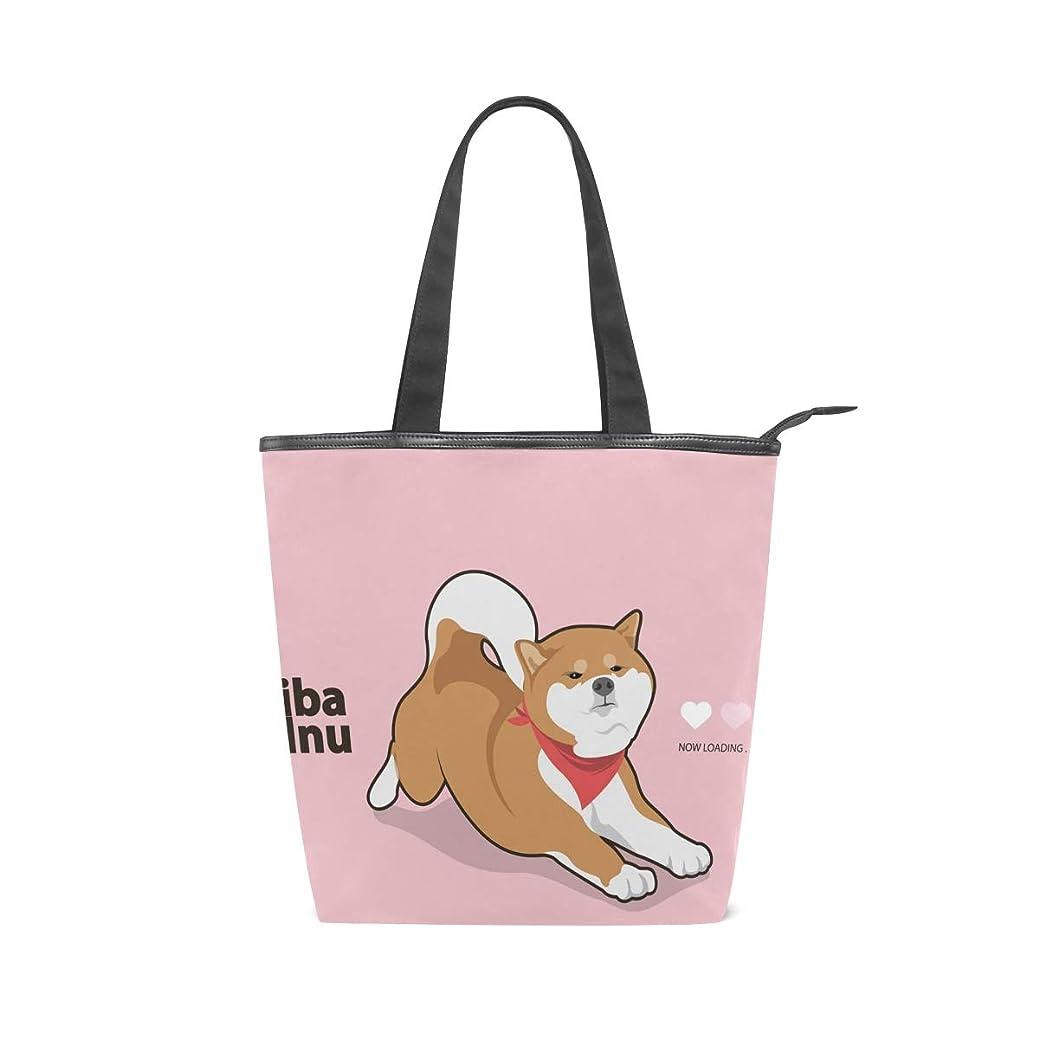 些細花火表現キャンバスバッグ トートバッグ ハンドバッグ 手提げ 柴犬柄 可愛い 大容量 通勤通学 メンズ レディース